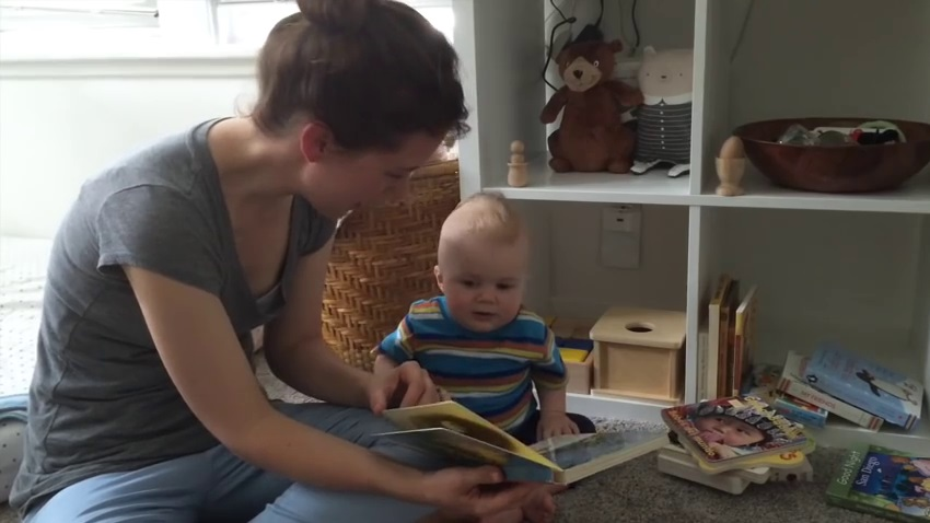 Baby book reading 2