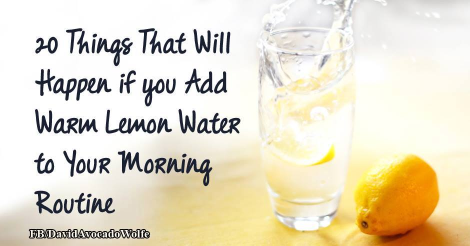 lemon water morning routine