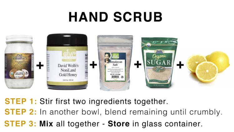 coconut oil hand scrub davidwolfe
