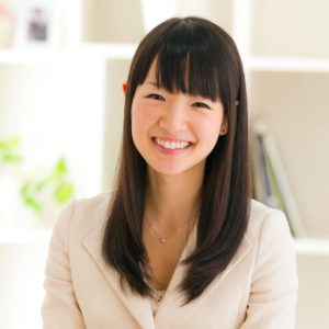 Author & Tidying Expert Marie Kondo decluttering organizing