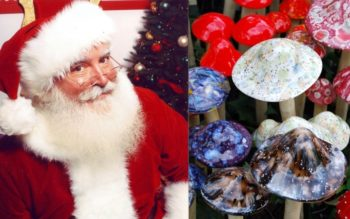 This is how magic mushrooms explain the story of Santa and his reindeer.