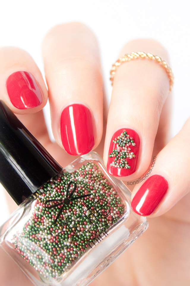 christmas-tree-nails-ciate-caviar