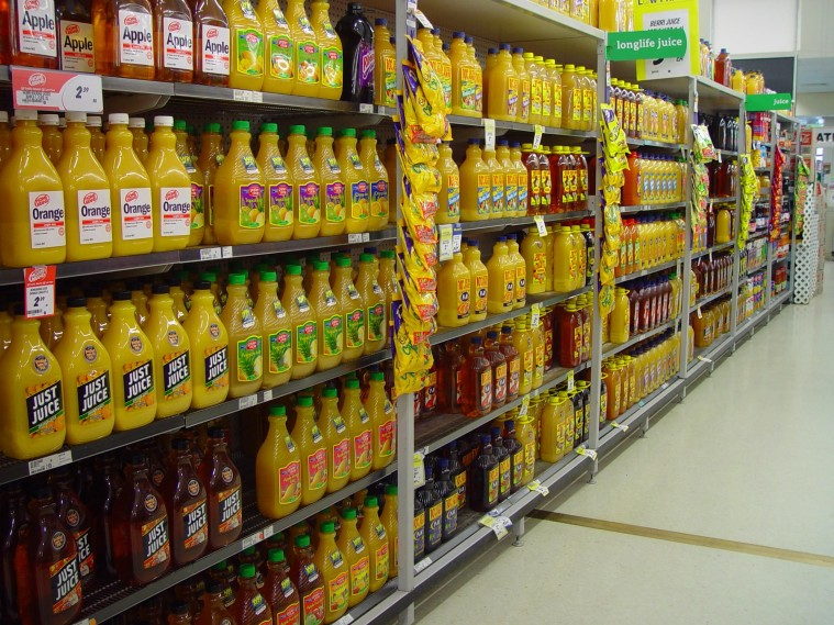 shelves-racks-of-fruit-juice