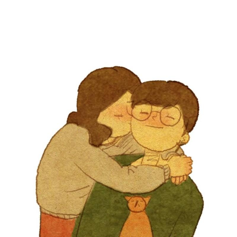 kiss cheek