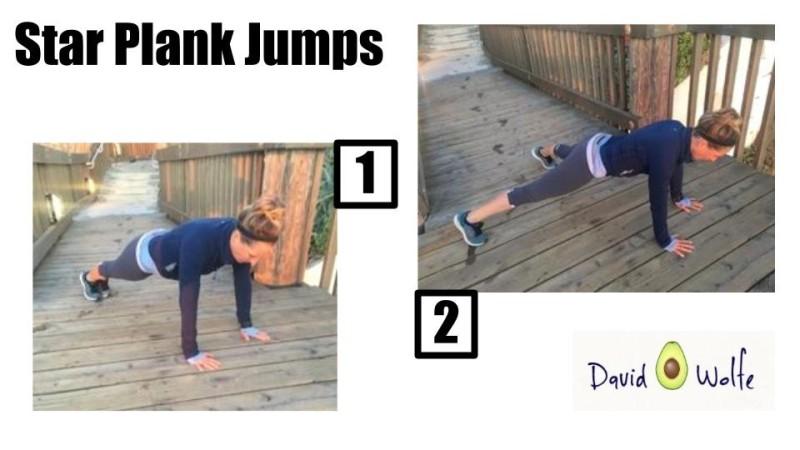 Star Plank Jumps