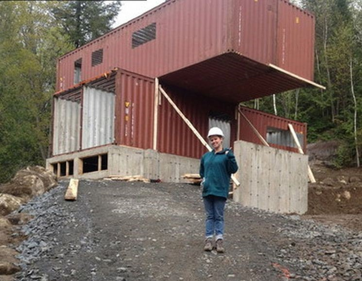 This Ingenious Lady Built Her Home Out Of Shipping