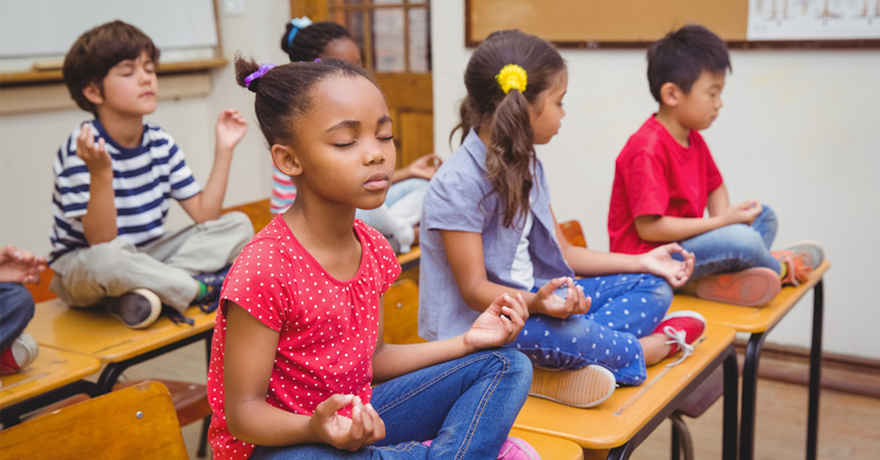 kids school meditate FI