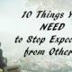 stop expecting FI