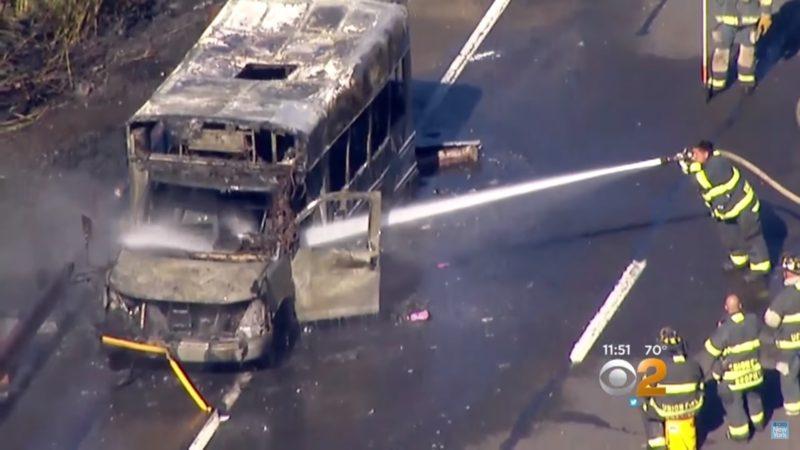 burning bus