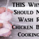 wash raw chicken FI