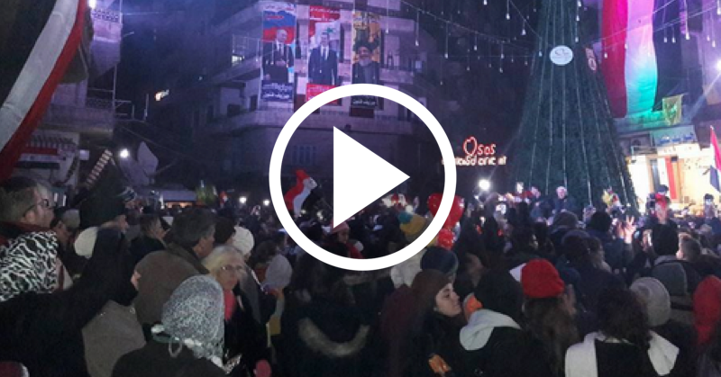 video muslims christians celebrate christmas in newly liberated aleppo davidwolfecom