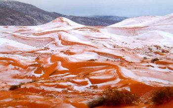 Stunning Photos Reveal First SNOW In Sahara Desert In Decades