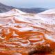 Rare SNOW in SAHARA desert