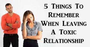 leaving toxic relationship FI