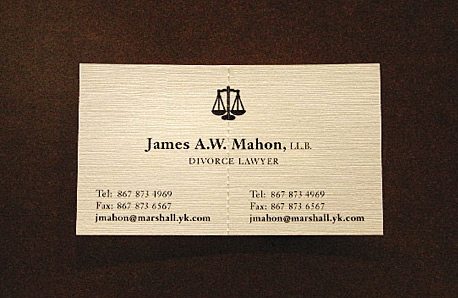 Divorce lawyers clever business card goes viral davidwolfe at first glance divorce lawyer james aw mahons business card might not look all that unusual but a closer look reveals a rather clever feature that colourmoves