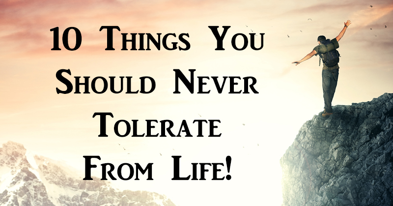 never tolerate life FI