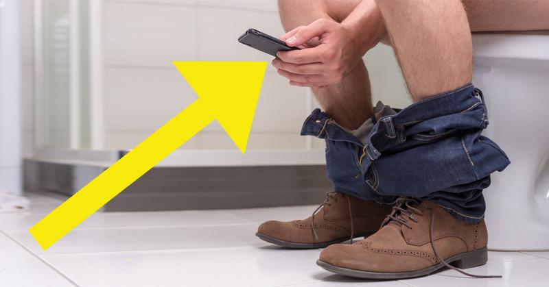 phone toilet FI