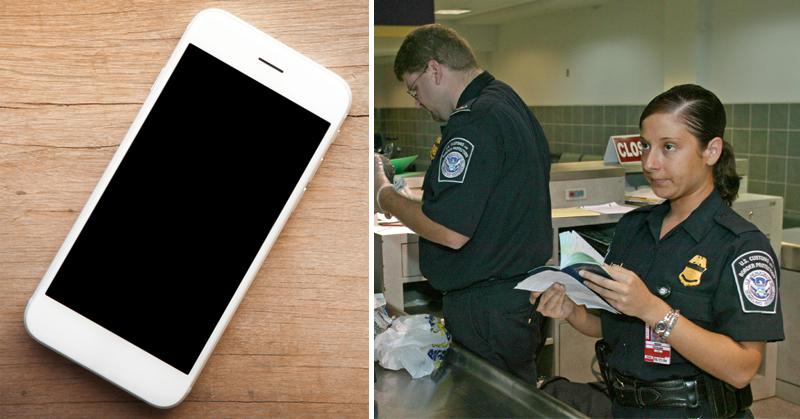 border patrol cellphone FI