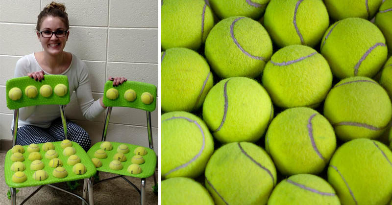 tennis balls chairs FI