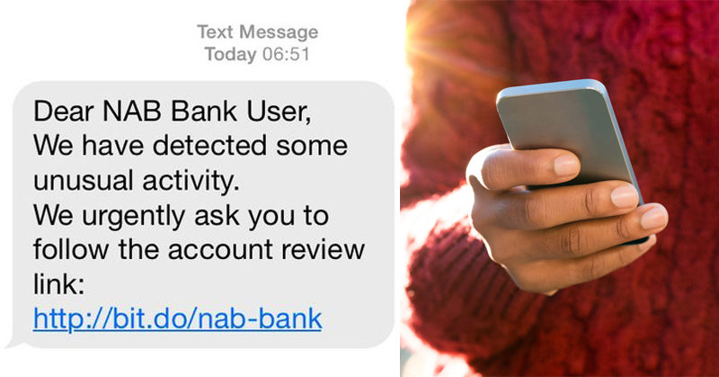 bank text scam FI