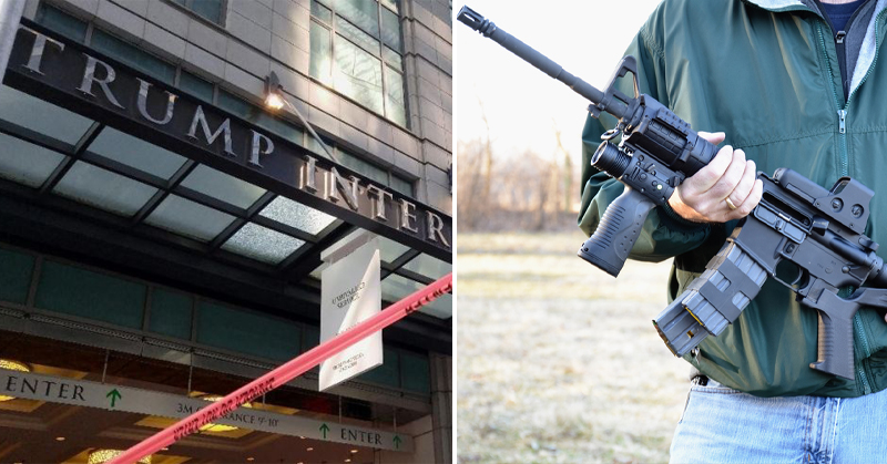 armed man trump hotel FI