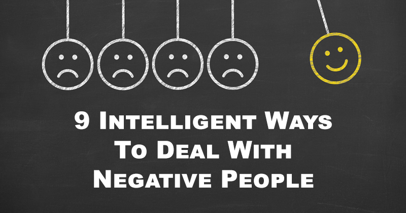 deal negative people FI
