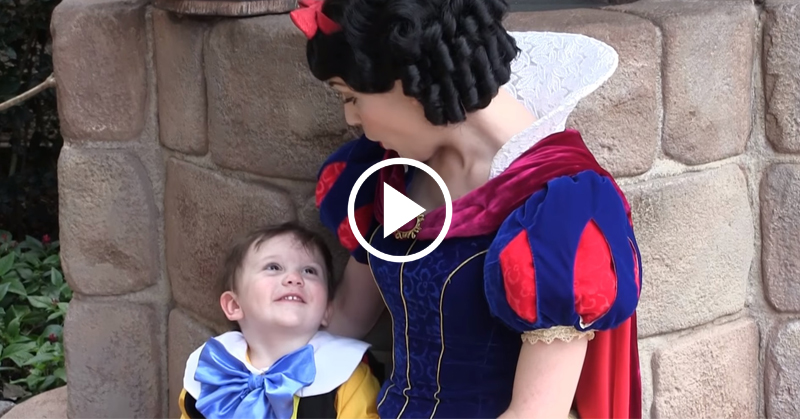 autistic boy snow white FI