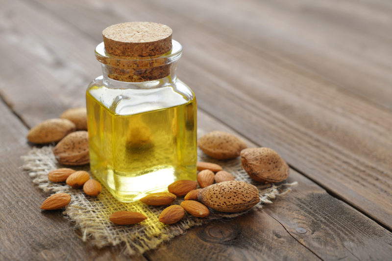 sweet almond oil dark circles