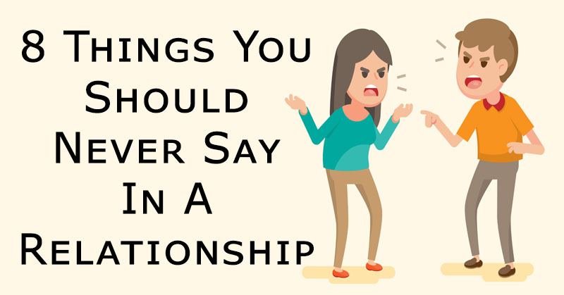 never say relationship FI