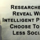 intelligent people less social FI