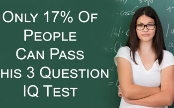 Only 17% Of People Can Pass This 3 Question IQ Test