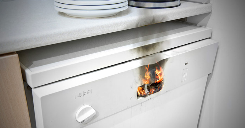 dishwasher fire FI