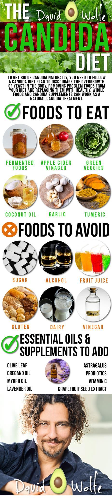 candida diet infograph