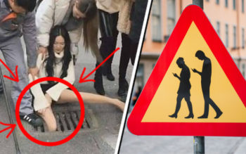 VIDEO: Woman Gets Her Leg Caught In A Drain While Walking Distracted