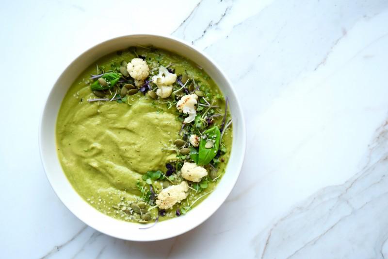 greens and lemon detox soup FI