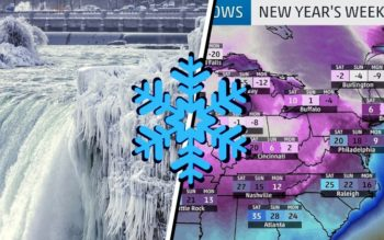 Northern US Braces For Record-Breaking Low Temperatures As Niagara Falls FREEZES OVER