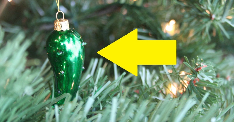 if you see a pickle ornament on a christmas tree this is what it means davidwolfecom - Pickle On Christmas Tree