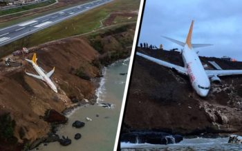 SHOCK: Airliner Skids Off Runway And Over A Cliff, Nearly Plummeting To Destruction