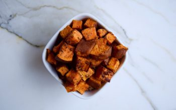 Spiced Sweet Potato Cubes