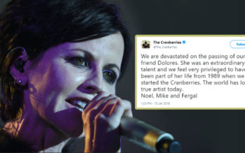 Fans Shocked Following Death Of Cranberries Lead Singer, Dolores O'Riordan At 46 Years Old