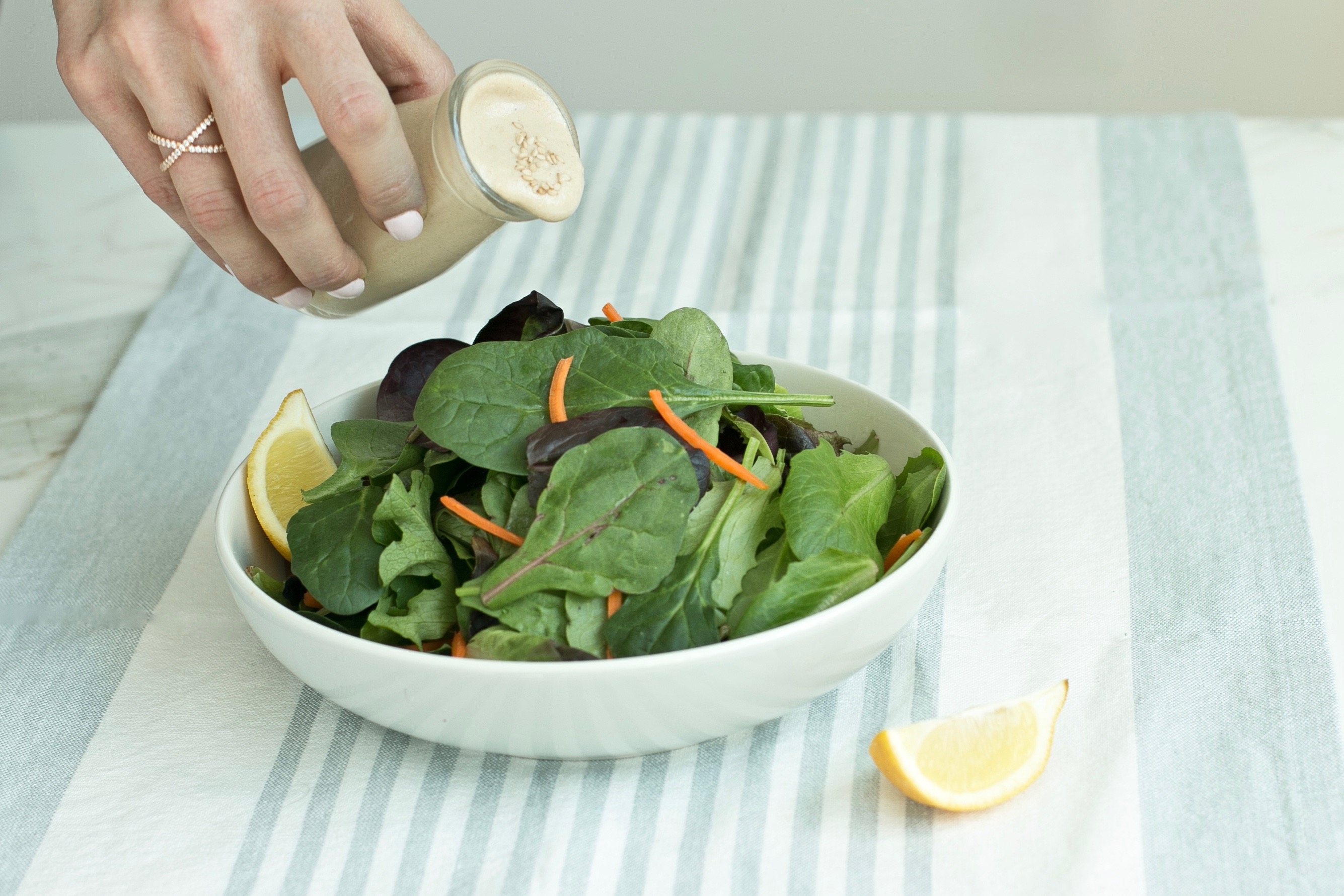 lemon tahini dressing FI