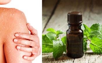 Homemade Body Scrub With Sea Salt & Peppermint Oil