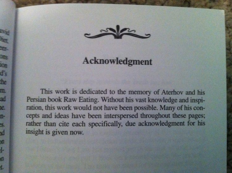 Acknowledgment scientism blog David Avocado Wolfe